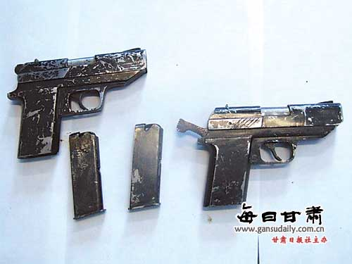 Homemade semi-automatic pistols illegally produced in China