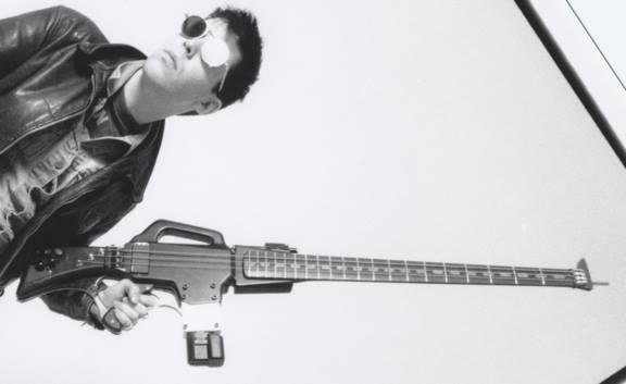 KMFDM Selling Gun-Shaped Bass Guitar